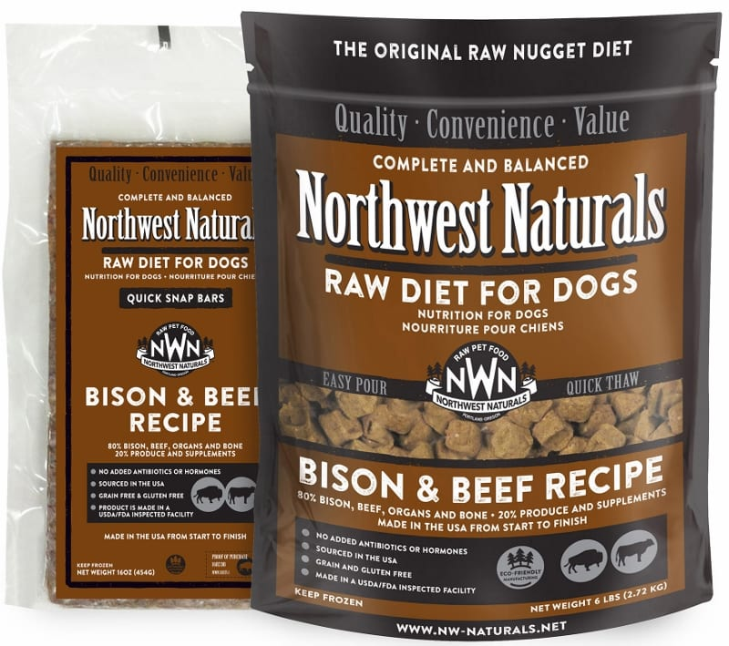 Bison & Beef dog food by Northwest Naturals | Raw diet for dogs