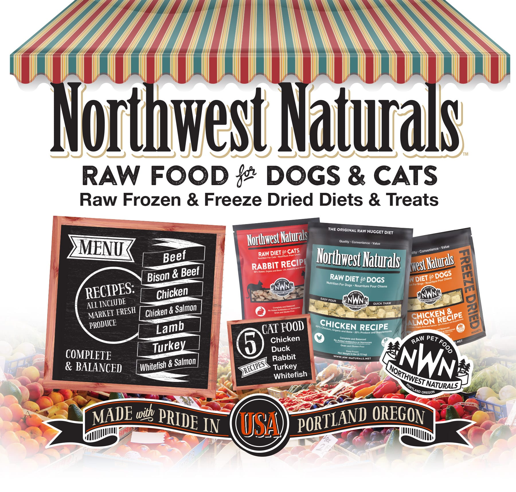 Raw Pet Food for Dogs & Cats from Northwest Naturals