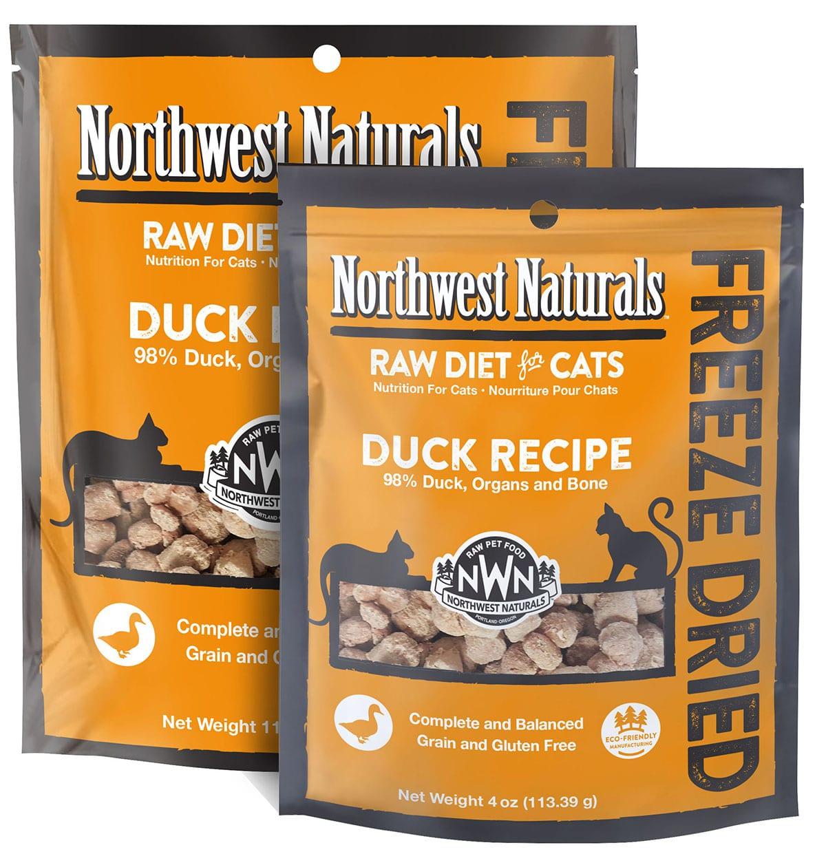 Duck Recipe Freeze Dried Cat Nibbles from Northwest Naturals