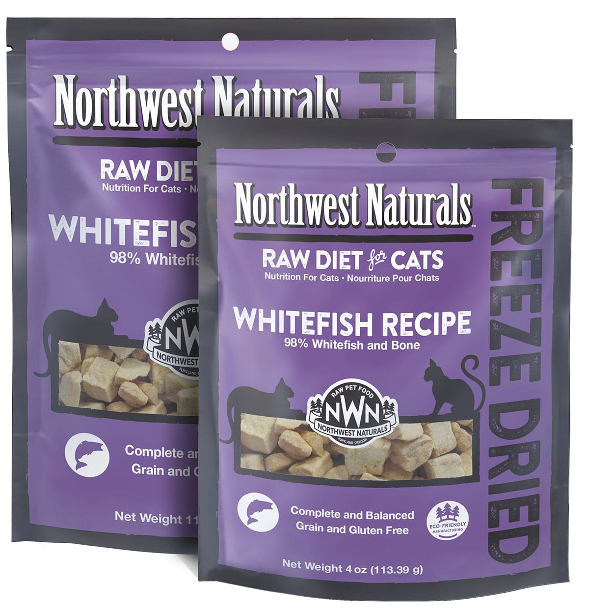 Whitefish Recipe Freeze Dried Cat Nibbles from Northwest Naturals