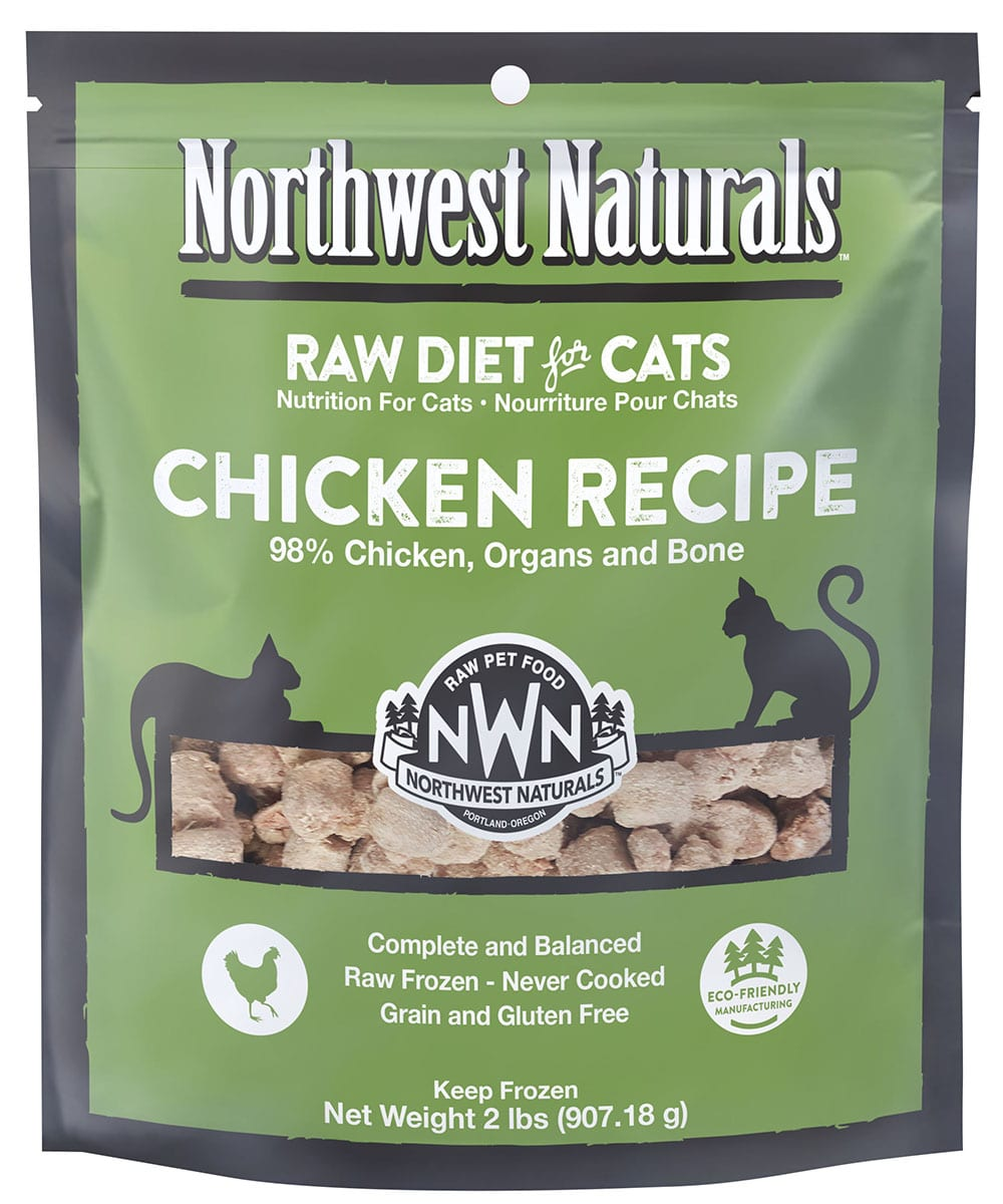 Chicken Recipe Frozen Cat Nibbles from Northwest Naturals