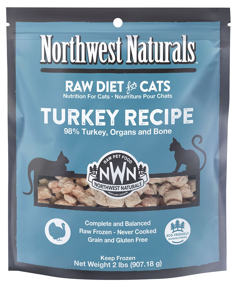 Turkey Recipe Frozen Cat Nibbles from Northwest Naturals