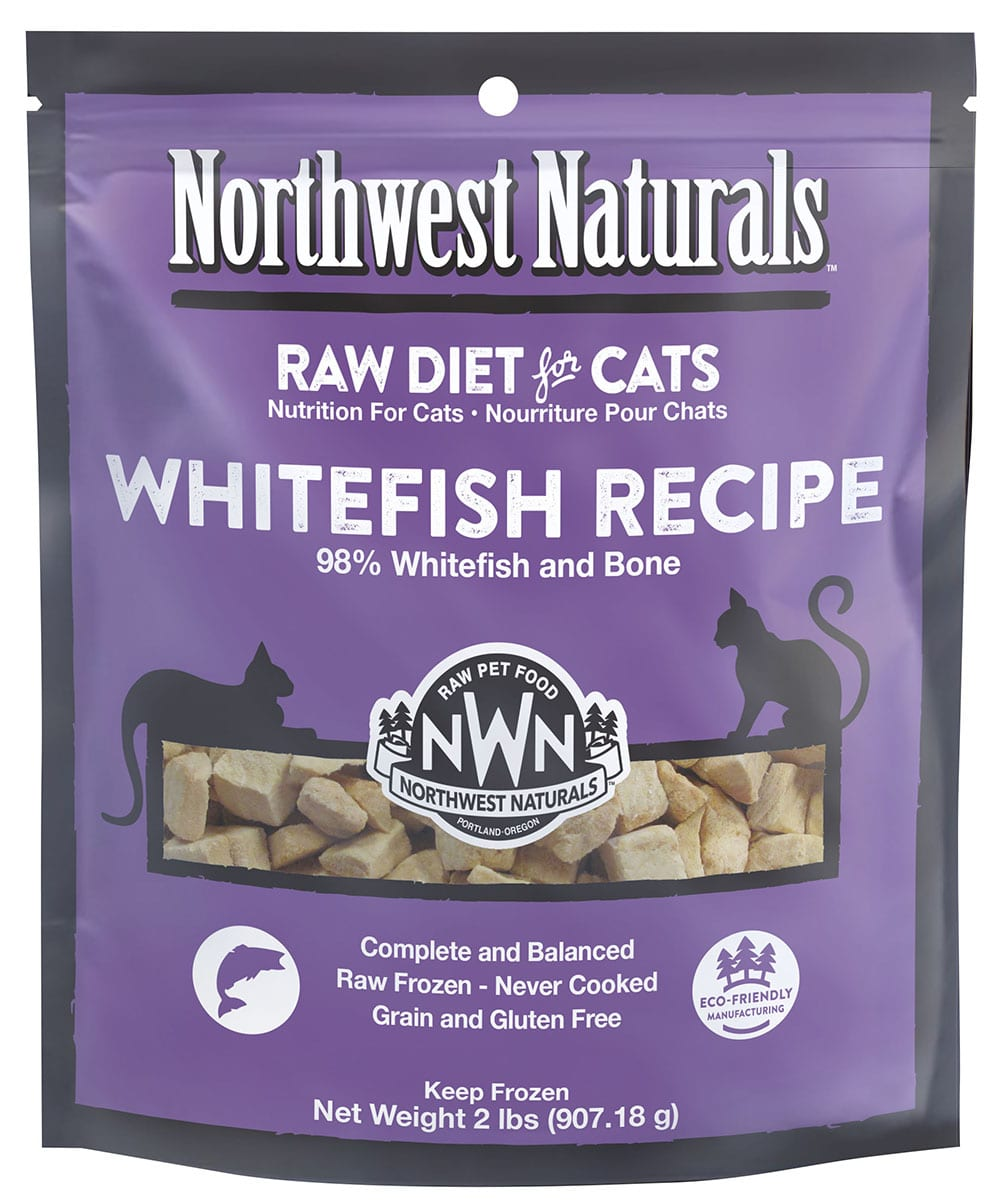Whitefish Recipe Frozen Cat Nibbles from Northwest Naturals